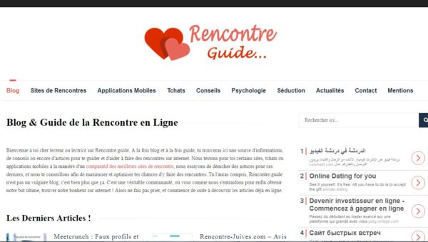 Guide des sites de rencontre sur internet