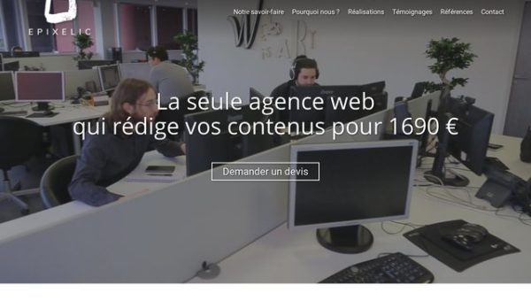 Epixelic, création de sites internet